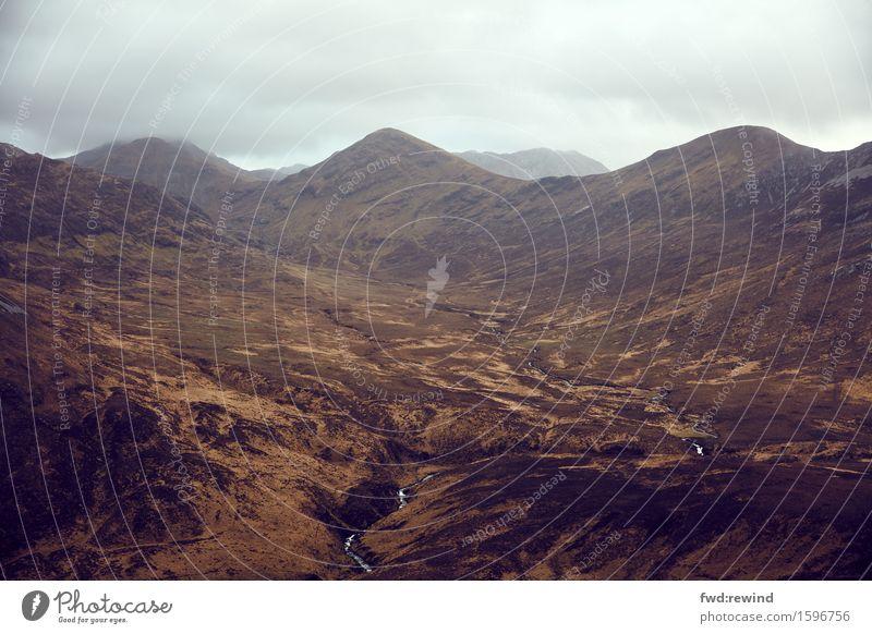 Connemara III Ferien & Urlaub & Reisen Tourismus Ausflug Abenteuer Ferne Freiheit Berge u. Gebirge wandern Umwelt Natur Landschaft Pflanze Erde Himmel Horizont
