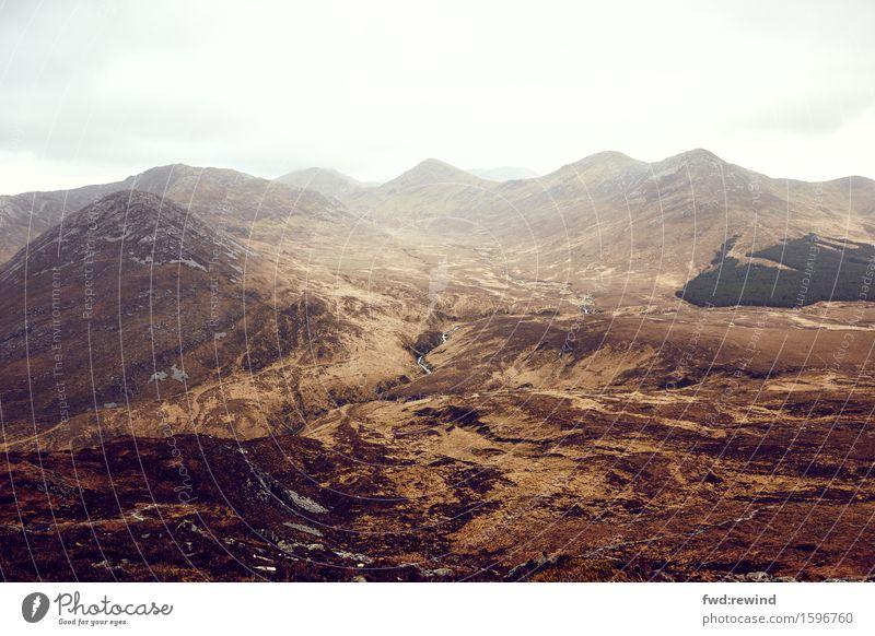 Connemara I Ferien & Urlaub & Reisen Tourismus Ausflug Abenteuer Ferne Freiheit Berge u. Gebirge wandern Umwelt Natur Landschaft Pflanze Erde Himmel Wolken