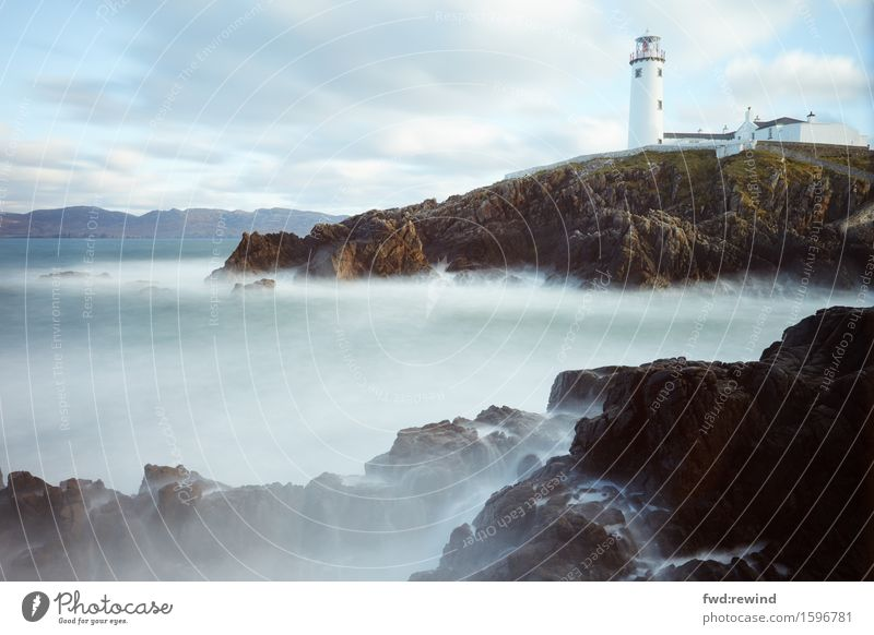 Fanad Lighthouse Ferien & Urlaub & Reisen Tourismus Ausflug Abenteuer Ferne Meer Insel Wellen Natur Landschaft Urelemente Himmel Frühling Herbst Klima Wetter