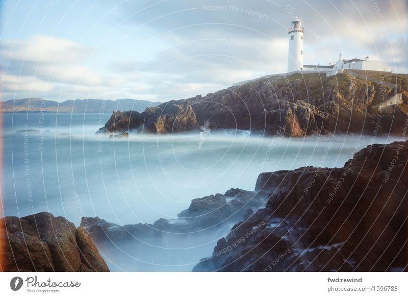 Fanad Head Lighthouse Ferien & Urlaub & Reisen Meer Landschaft Ferne Leben Küste Gebäude Freiheit Tourismus träumen Kraft Erfolg warten Energie Ausflug