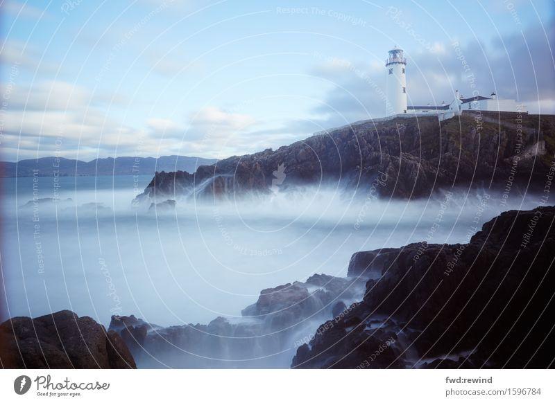Fanad Head Lighthouse Ferien & Urlaub & Reisen Wasser Landschaft Meer Ferne Küste Glück Freiheit Felsen träumen Wetter Zufriedenheit Wellen Kraft Ausflug