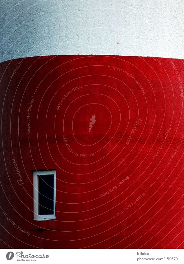 Fassade Leuchtturm Wand Beton rot weiß Strukturen & Formen Hintergrundbild Fenster Mauer Nordsee Gebäude bauen Architektur Strand Küste Farbe Glas