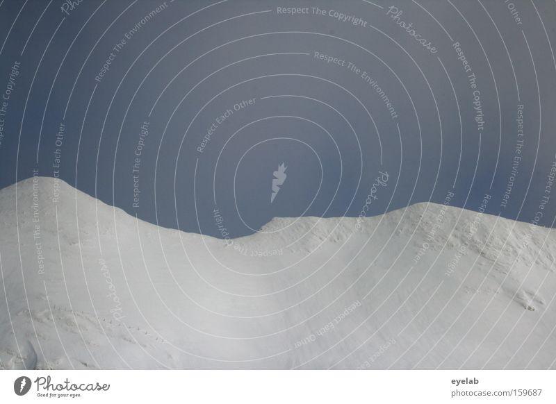 Grenzverkämmung Himmel Ferien & Urlaub & Reisen blau weiß Wolken Ferne Winter kalt Berge u. Gebirge Schnee grau Horizont Freizeit & Hobby Eis wandern