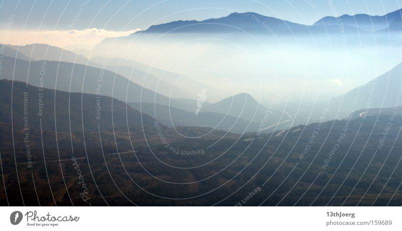 Tieflandnebel Mexiko Hochebene Berge u. Gebirge Tiefebene Nebel Tal Landschaft Panorama (Aussicht) Gipfel Abfahrtsrennen Ferien & Urlaub & Reisen Tourist