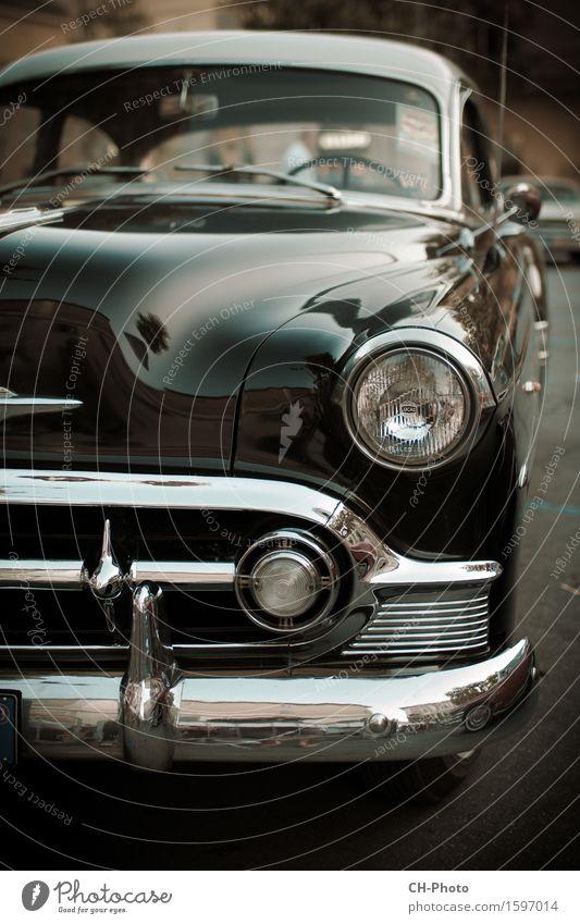 Classic Car Oldtimer Vintage Rockabilly Park PKW Taxi retro 50ies American Cadillac Chrome Pin-Up Road Rock 'n' Roll altehrwürdig blue cars colorful Kuba cuban