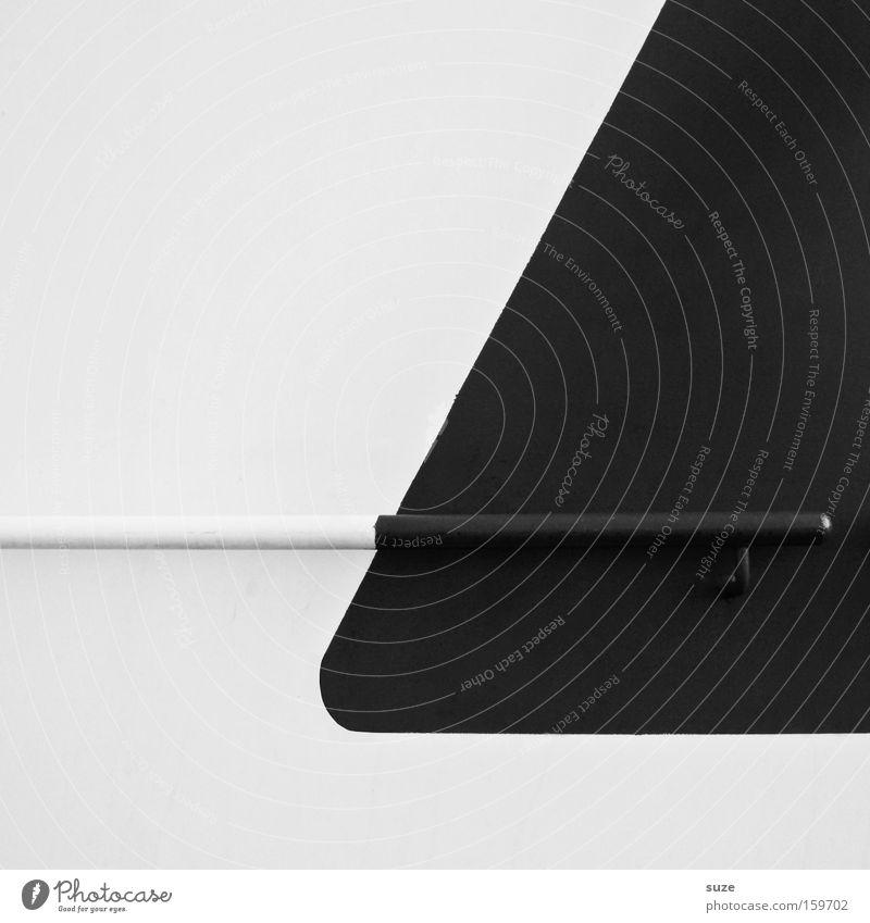 Runde Ecke weiß schwarz Wand Stil Metall Wasserfahrzeug Design Grafik u. Illustration Geländer Teilung Geometrie Farblosigkeit minimalistisch Halterung