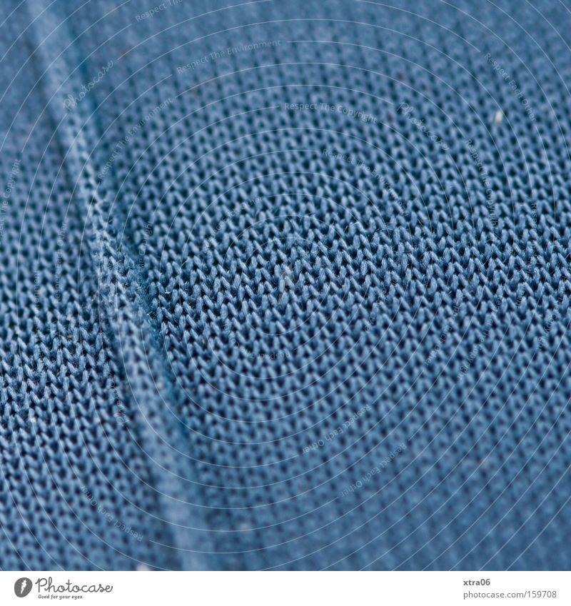 mein bein Stoff Hose blau Schlaufe gewebt Makroaufnahme stricken Hintergrundbild Strukturen & Formen Material Nahaufnahme