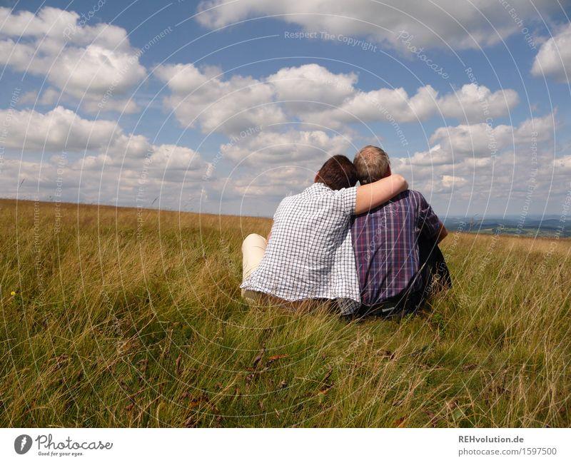 helgi in love Mensch Frau Himmel Natur Mann Erholung Landschaft Wolken Erwachsene Umwelt Liebe Senior Wiese feminin Glück Paar