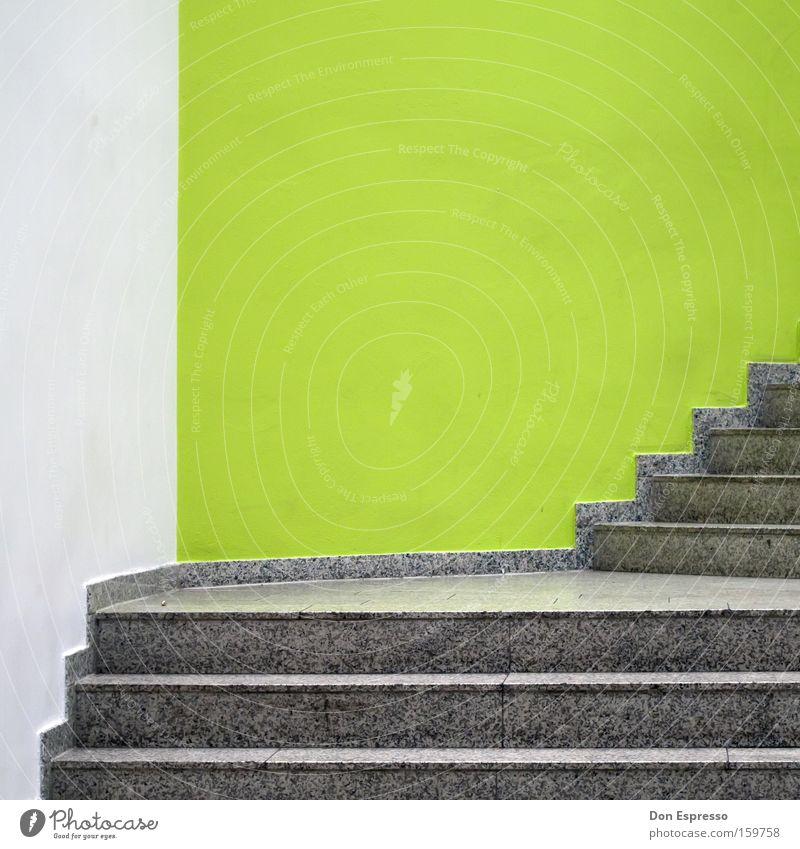 HB-CC Detailaufnahme Treppe Linie grün weiß Ordnung aufwärts mint steigen Treppenhaus Grafik u. Illustration graphisch aufräumen sehr wenige Bremerhaven