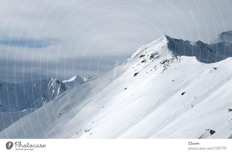 spielplatz Berge u. Gebirge Fiss Österreich Gipfel unberührt Winter Landschaft Alpen Schnee gebirgskamm