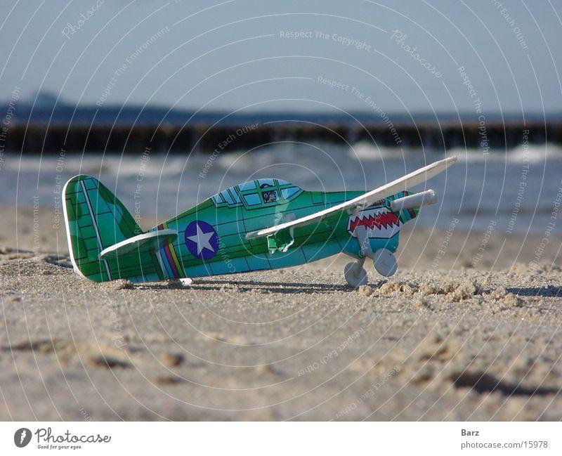 Flieger Meer Strand Flugzeug Freizeit & Hobby