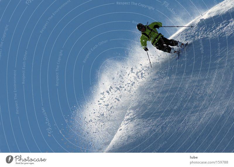 Telemarking Skifahren Skier Winter Pulverschnee Tiefschnee Skifahrer Lawine Schnee Schneefall Sport Spielen Wintersport freerider freeriding