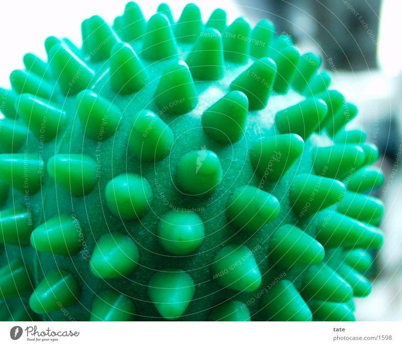 Gumminoppen Noppe grün Dinge Nahaufnahme Massageball