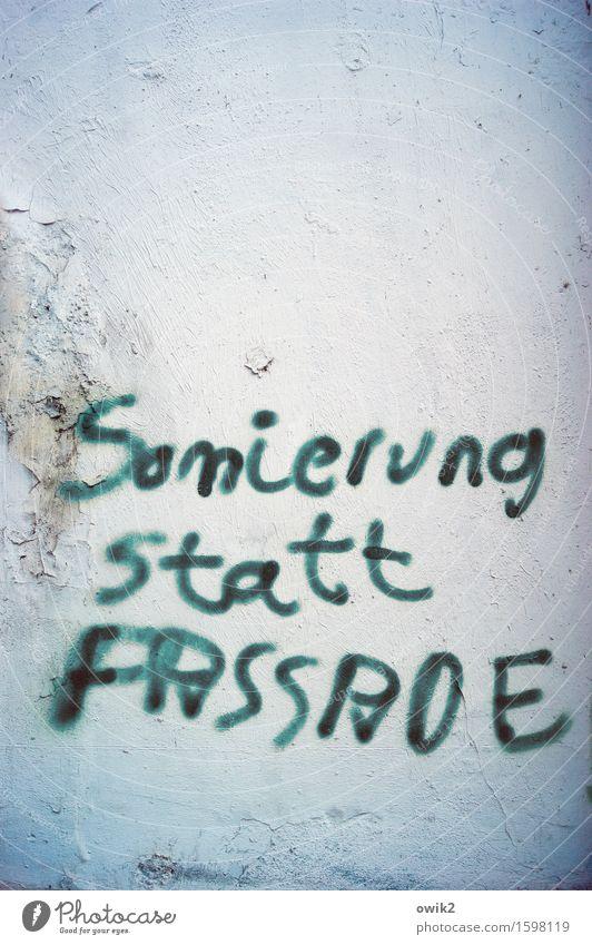 Kampfschrift alt Wand Graffiti Mauer Fassade Schriftzeichen einfach Wut trashig Aggression Frustration gereizt Verbitterung