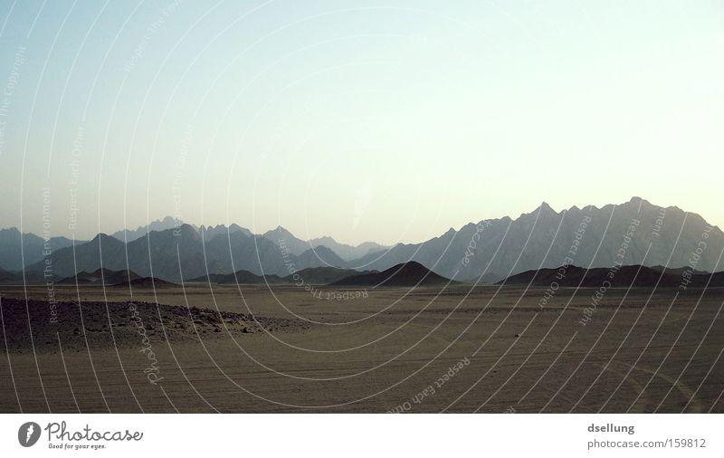 Hurghada, 2007 Berge u. Gebirge Stein Wärme Sand dreckig Afrika Wüste heiß Ägypten Luftspiegelung