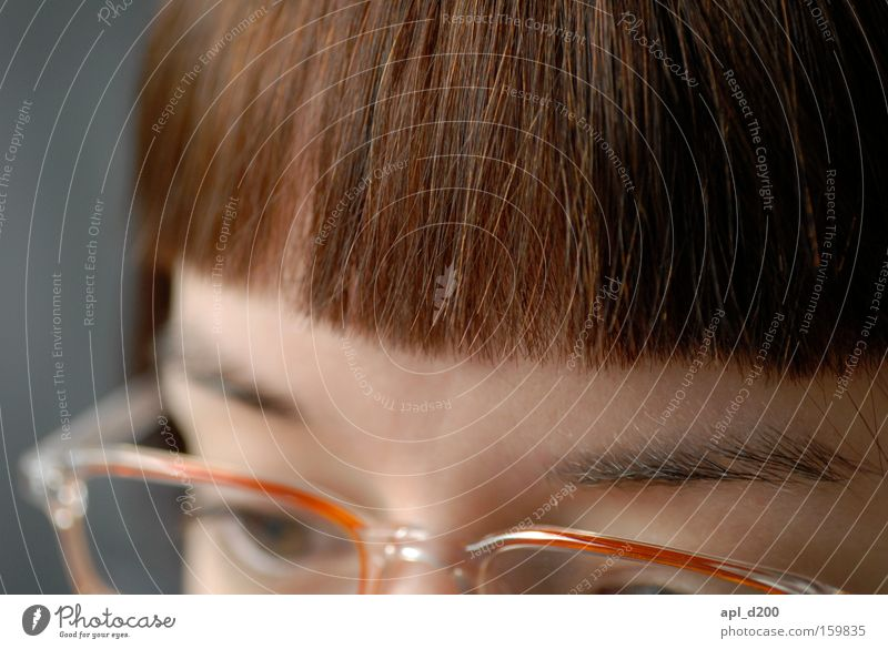 myLOVE Frau Pony Genauigkeit Augenbraue Haarschnitt Bob Brillenträger