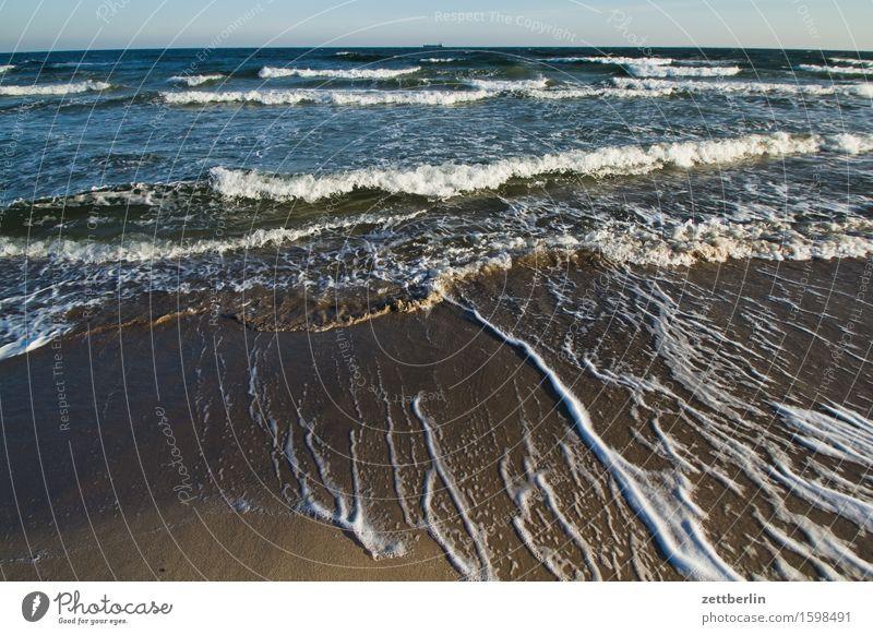 Nordperd Himmel Horizont Landschaft Mecklenburg-Vorpommern Meer mönchgut Rügen göhren nordperd Strand Wasser Wellen Winter Ostsee Gischt Ferne Fernweh
