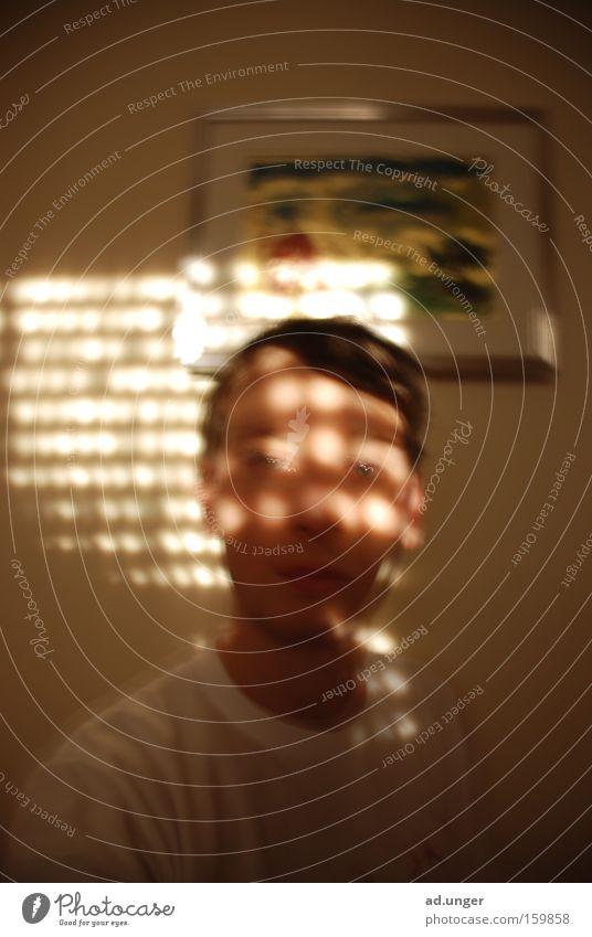 sun pattern Sonne Gesicht hell Kraft grell Jalousie Lichtpunkt Lichtstrahl verschlafen