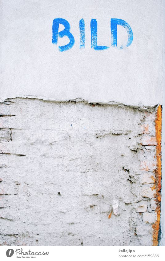 zeitungslayout blau Farbe Wand Graffiti Design Schriftzeichen Zeitung Bild Schriftstück Grafik u. Illustration Wandmalereien Platzhalter