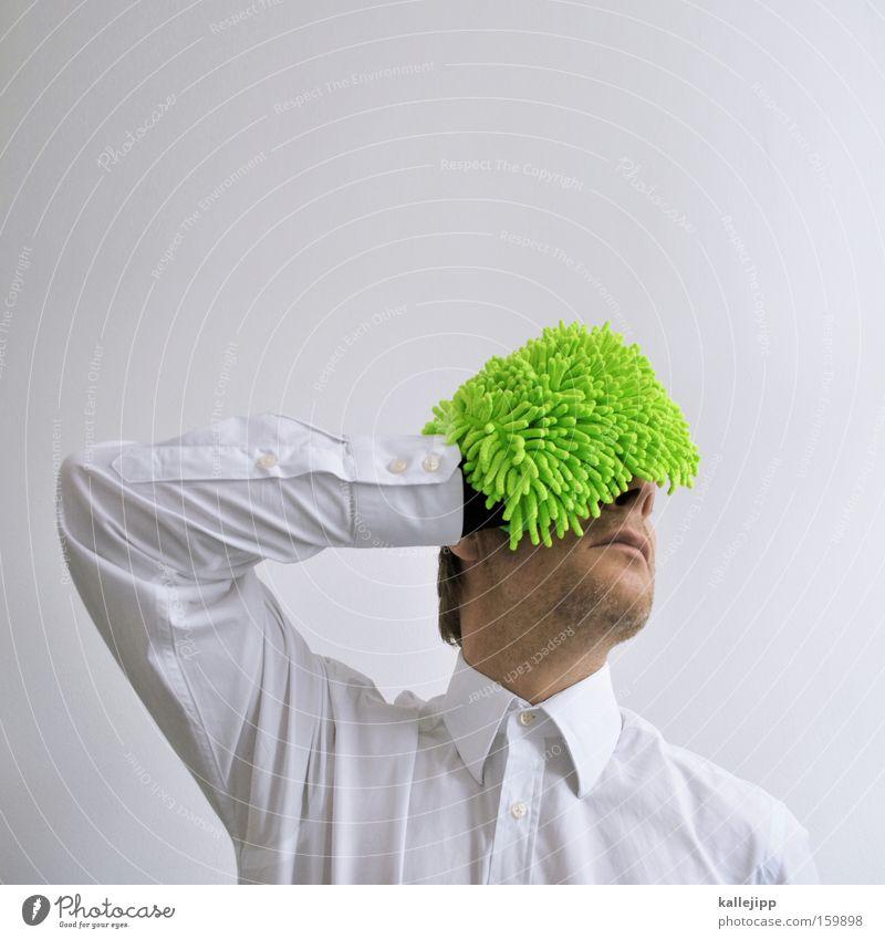 frustfaktor weiß grün Farbe Farbstoff Trauer Hemd Verzweiflung Frustration Enttäuschung Angsthase Kopfschmerzen