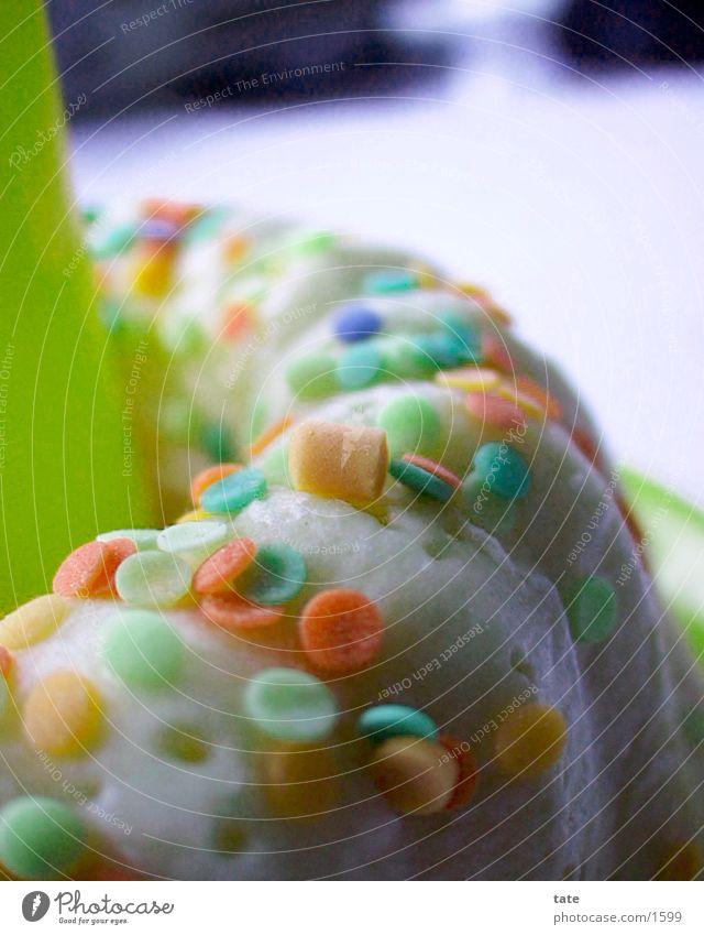 Happy Birthday! Dinge Geburtstag Kerze. Kuchen Nahaufnahme Torte