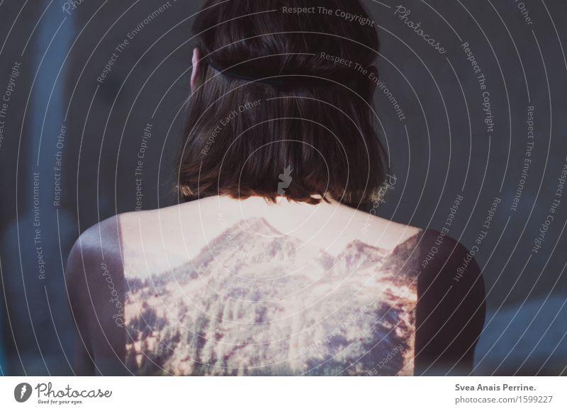 fernweh -|||- Mensch Ferien & Urlaub & Reisen Jugendliche nackt 18-30 Jahre Wald Berge u. Gebirge Erwachsene Wand Mauer Kopf maskulin träumen nachdenklich