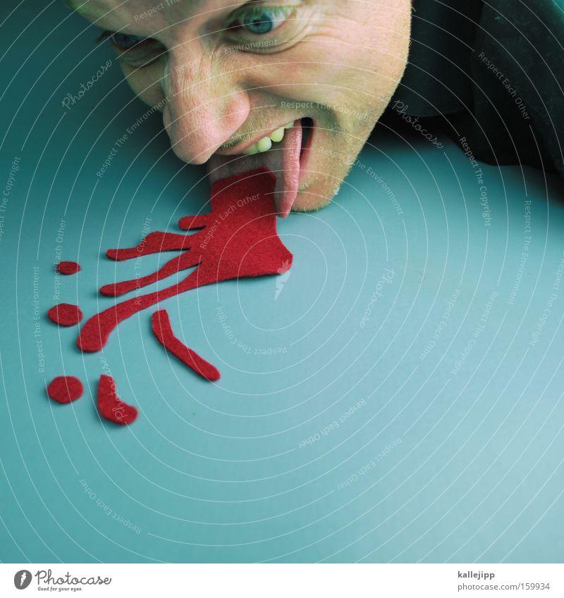 kater Erbrechen Übelkeit Blut Rotwein Mann Mensch Gesicht Tropfen Flüssigkeit Notarzt Notfall Krankheit Alkohol alkoholvergiftung