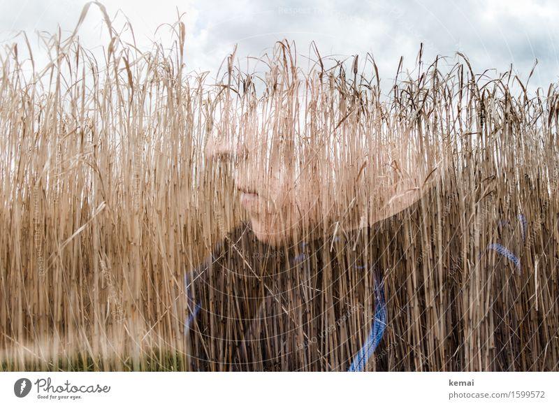 Imagination will get you everywhere. Mensch Erwachsene Leben Kopf 1 Umwelt Natur Pflanze Schilfrohr Denken träumen außergewöhnlich Coolness Gelassenheit ruhig