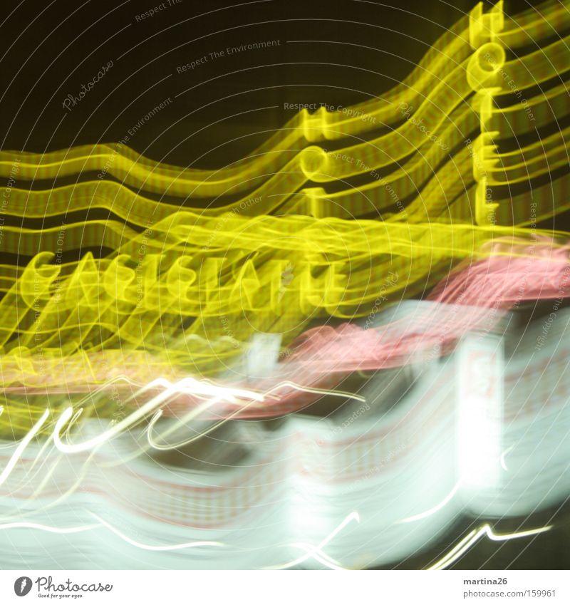 Don´t drink and drive … schwarz gelb Linie rosa Schilder & Markierungen Tourismus Schriftzeichen Gastronomie Werbung Hotel Alkoholisiert Dynamik Rausch chaotisch Surrealismus Nacht