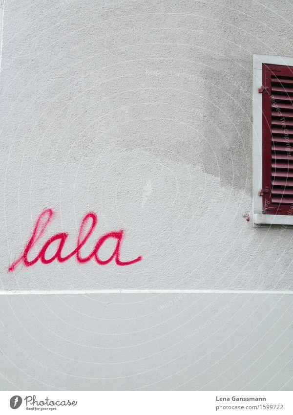 Dieses Graffiti finde ich so... Stadt schön Wand Mauer Kunst Denken Fassade rosa Häusliches Leben elegant ästhetisch Schriftzeichen Fröhlichkeit Kommunizieren