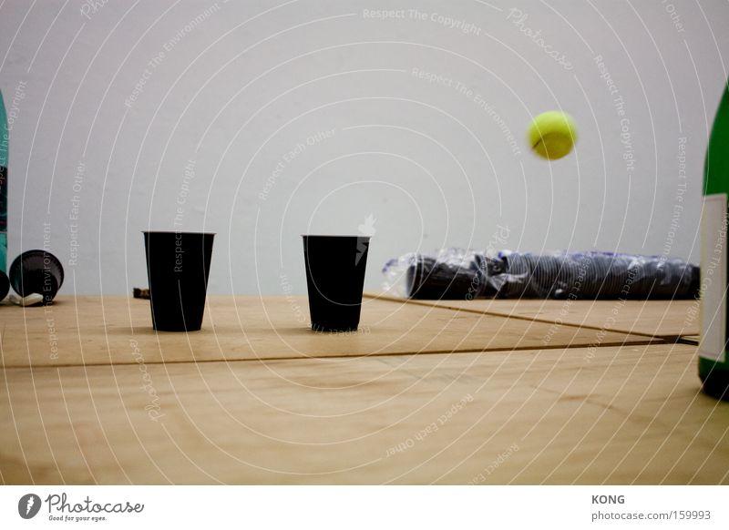 passing by Freude gelb Bewegung Freizeit & Hobby fliegen Geschwindigkeit Luftverkehr Ball Seite Tennis Becher Treffer Ballsport deplatziert