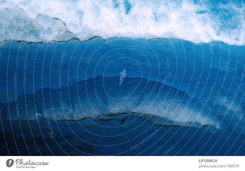 Eiszeit Gletscher Schnee Norwegen blau Skandinavien Wasser kalt Strukturen & Formen Höhle Wurm Ferien & Urlaub & Reisen Vergänglichkeit