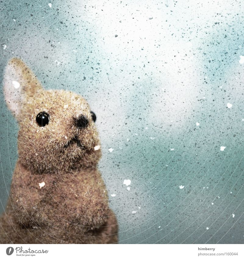 snowbunny Winter Schnee Ostern Dekoration & Verzierung Spielzeug Jahreszeiten Hase & Kaninchen Tier Osterhase Stofftiere Schneehase
