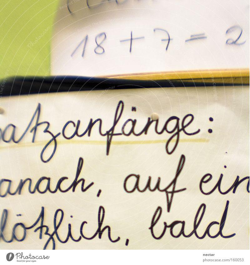 atzanfänge: anach, auf ein lötzlich, bald schreiben rechnen Deutschland Schule Mathematik Schriftzeichen Schriftstück Ziffern & Zahlen Buchstaben 2 Erfolg