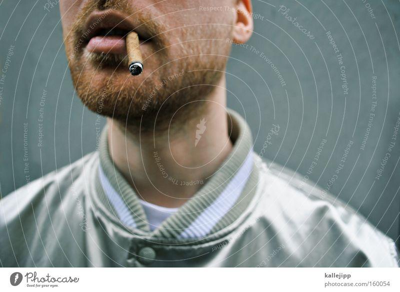 when smokey sings Mann Mund Coolness Rauchen Lippen Bart Zigarette silber Lunge Krebs Tabakwaren Gesundheitsrisiko