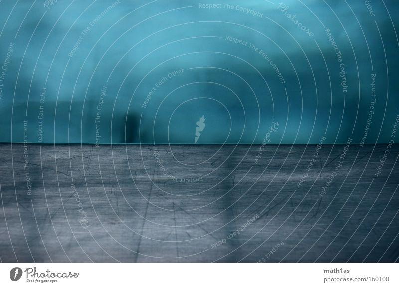 Still Wasser blau kalt grau Traurigkeit Horizont Trauer Schwimmbad Bodenbelag Freizeit & Hobby türkis silber Aluminium
