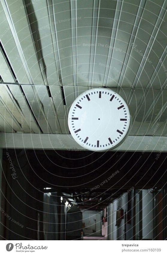 uhr Sanatorium Angst träumen Uhr zeitlos hilflos warten ohne Apokalypse Endzeitstimmung gruselig Zeit Einsamkeit keine Gang