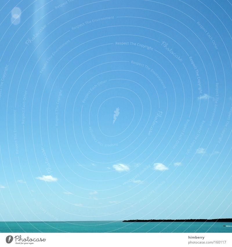dreamcast Wasser Himmel Meer Sommer Strand Ferien & Urlaub & Reisen Wolken träumen Küste groß Insel Tourismus Reisefotografie Paradies Karibisches Meer Kleine Antillen