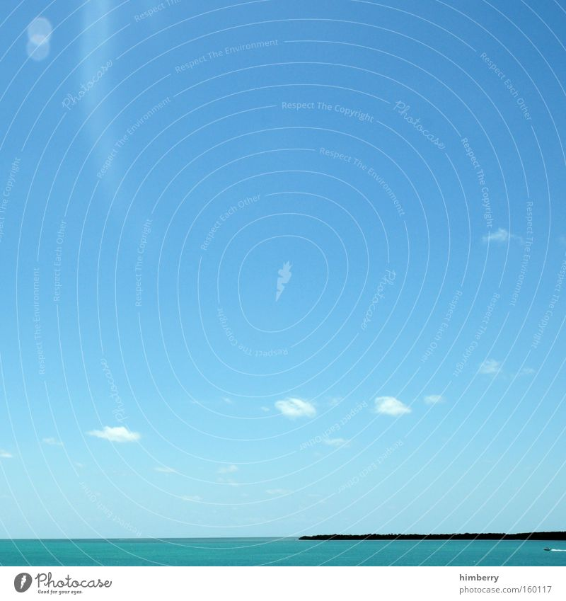 dreamcast Wasser Himmel Meer Sommer Strand Ferien & Urlaub & Reisen Wolken träumen Küste groß Insel Tourismus Reisefotografie Paradies Karibisches Meer