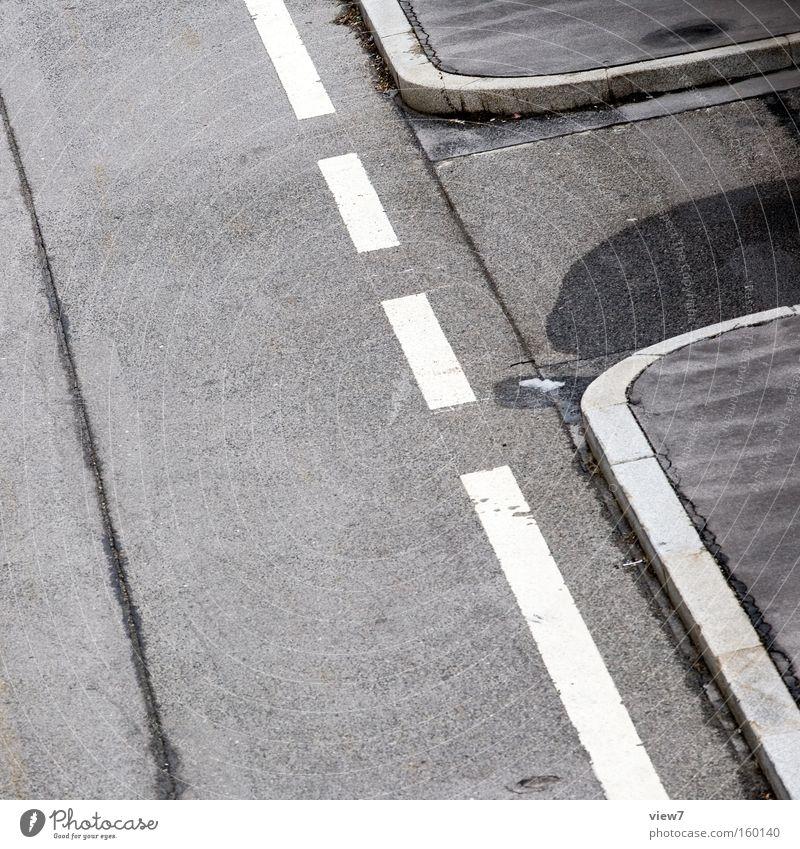 Graphikdesign Straße Wege & Pfade Schilder & Markierungen Streifen Linie Bordsteinkante Kurve abbiegen Strukturen & Formen Ordnung gestikulieren Zeichen grau