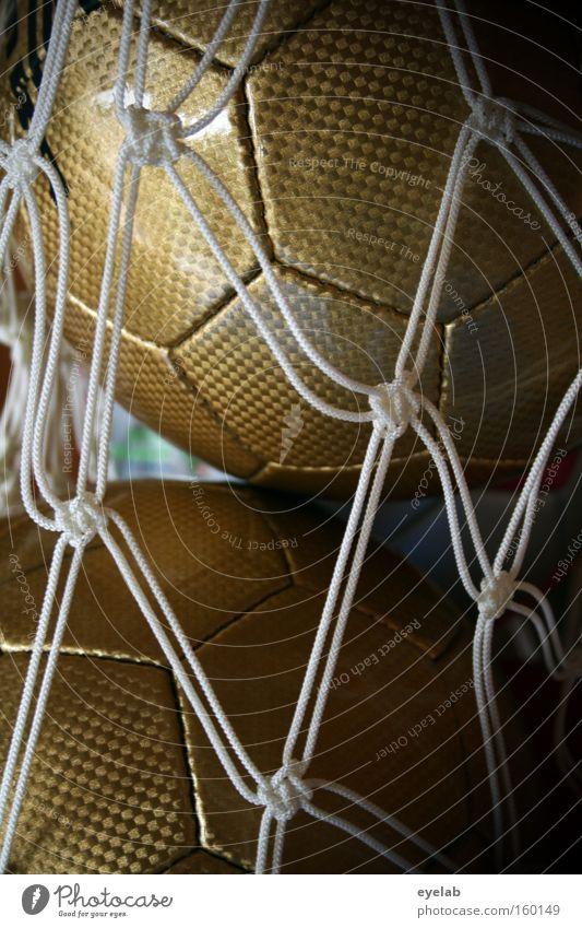 Network Freude Sport Spielen gold Fußball Ball Güterverkehr & Logistik Netz Sammlung Gerät Nähgarn Basketball Sportgerät Handball Ballsport Sechseck