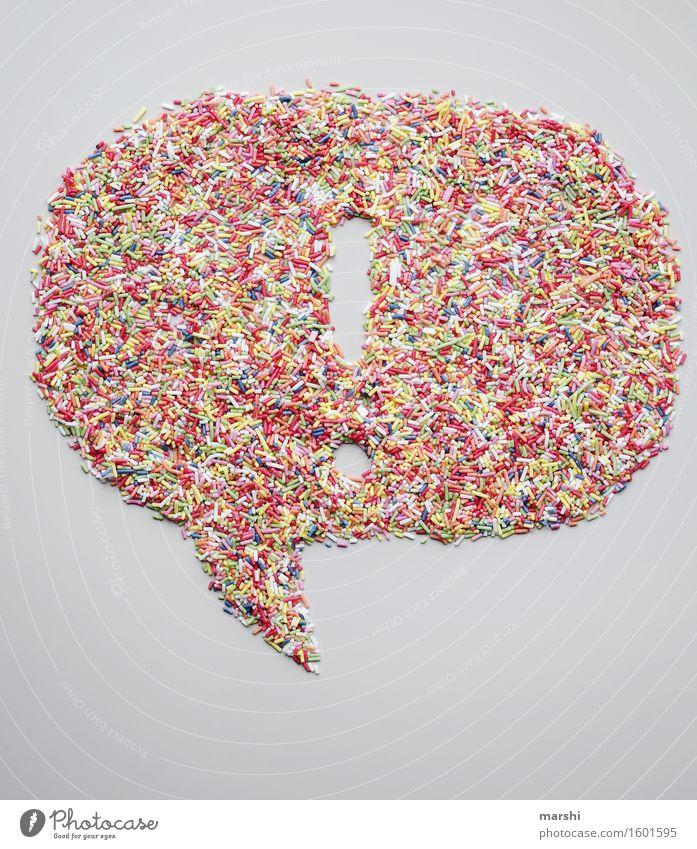 ! sprechen Gefühle Stimmung Ernährung Schriftzeichen Zeichen Ziffern & Zahlen Süßwaren Zucker Sprechblase Ausruf Ausrufezeichen Zuckerstreusel