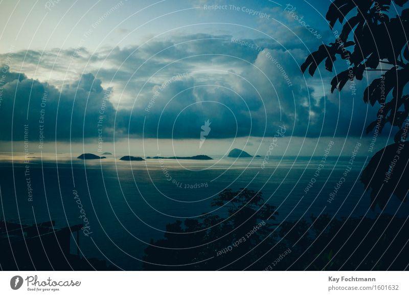 ° Ferien & Urlaub & Reisen blau Sommer Wasser Meer Erholung Wolken ruhig Ferne Gefühle Küste Freiheit Tourismus Zufriedenheit ästhetisch Insel