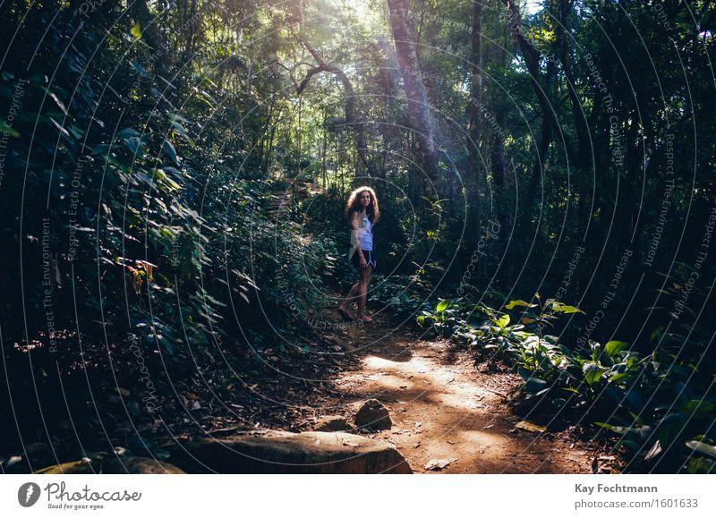 ° Mensch Natur Ferien & Urlaub & Reisen Jugendliche Pflanze schön Sommer Junge Frau Baum Erholung 18-30 Jahre Erwachsene Leben feminin Glück Freiheit