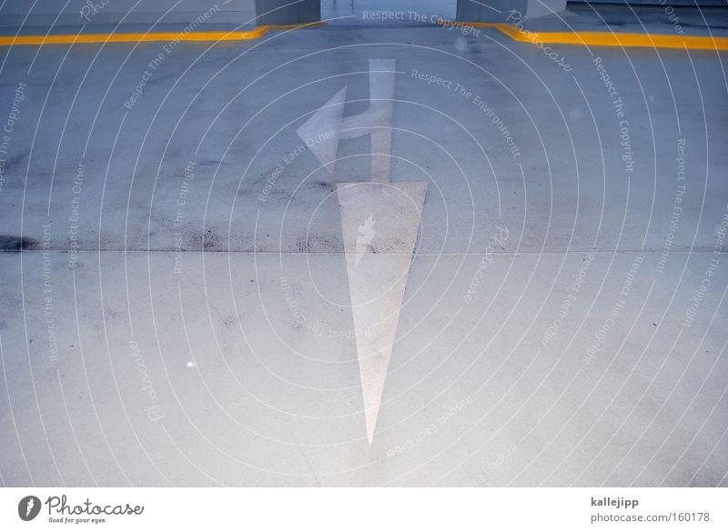 poison arrow Richtung Orientierung Straße Fahrbahn Parkhaus Zukunft Aussicht vorhersagen Symbole & Metaphern Schilder & Markierungen Straßennamenschild Pfeil