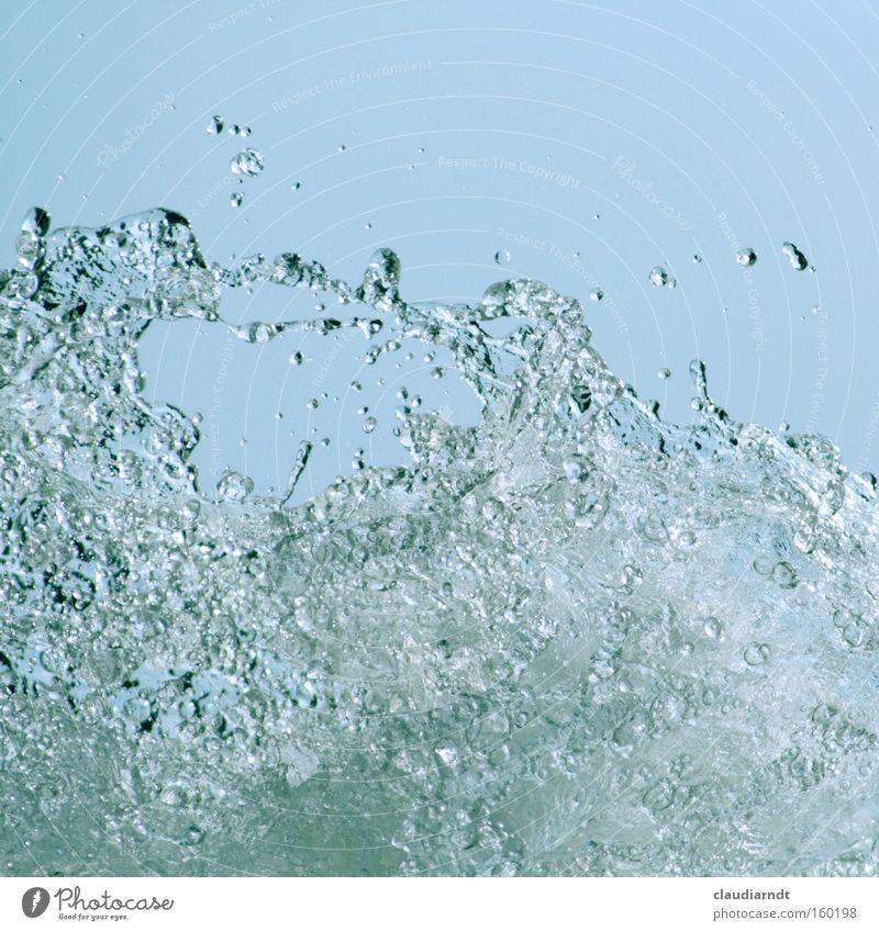 H-zwei-O Wasser Meer Wellen Wassertropfen nass Kraft Geschwindigkeit frisch Tropfen spritzen Quelle
