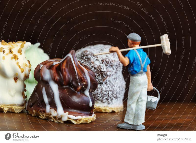 Miniwelten - Schokoküsse dekorieren Lebensmittel Dessert Süßwaren Schokolade Ernährung Kaffeetrinken Renovieren Arbeitsplatz Küche Dienstleistungsgewerbe