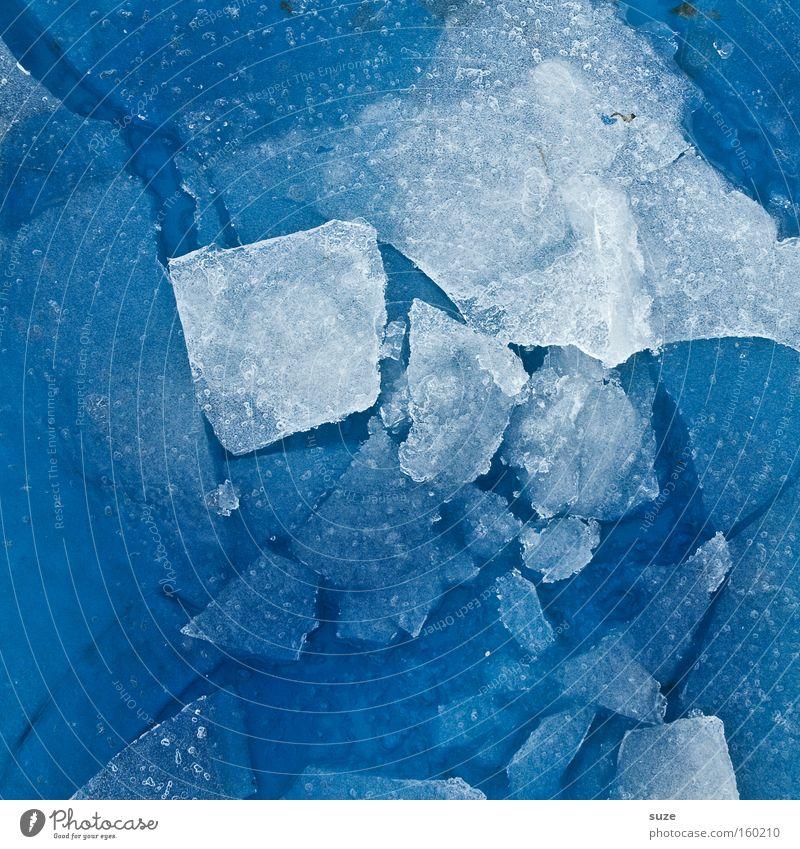 Eisblau Wasser blau Winter kalt Schnee Eis Hintergrundbild Wetter Frost Boden Klima gefroren schmelzen Eisscholle Niederschlag