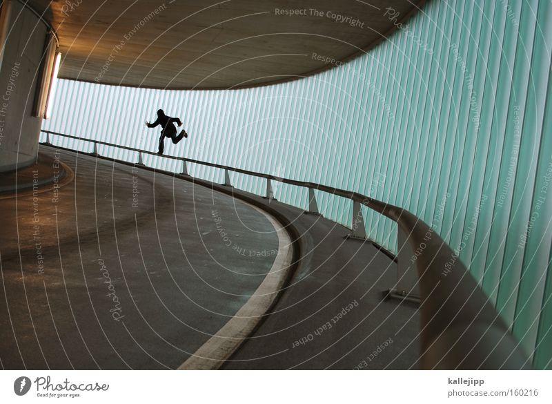 lok auf 2 beinen Mensch Fenster Architektur Bewegung Eisenbahn laufen Geschwindigkeit Laufsport rennen Gleise Rennsport Fensterscheibe Scheibe Parkhaus