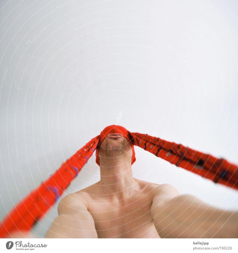 langohrhasen Mensch Mann weiß rot Freude nackt Arme Ostern Ohr Strumpfhose Comic Witz Osterhase Strümpfe